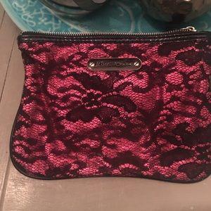 Betsey Johnson makeup bag/clutch with zipper